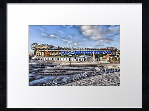 Murrayfield stadium  (1) 40cm x 30cm framed print or canvas print