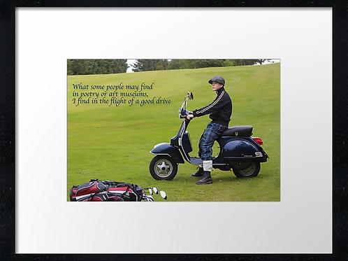 Golf boy quotes (2) 40cm x 30cm framed print or canvas print