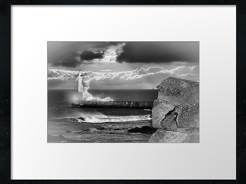 Waves B  W (2) Example shown  40cm x 30cm framed print or c