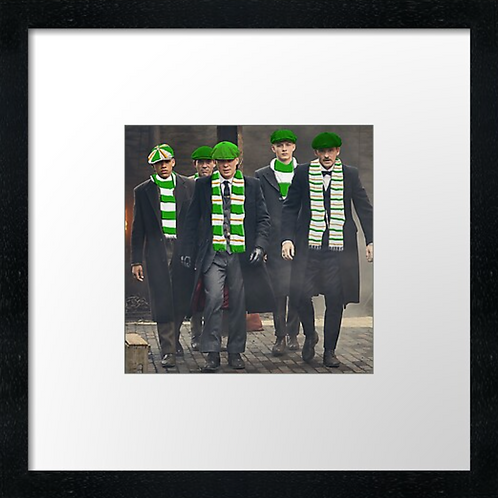 """Celtic Peaky fans Print or canvas print Example shown is 10"""" Framed prin"""