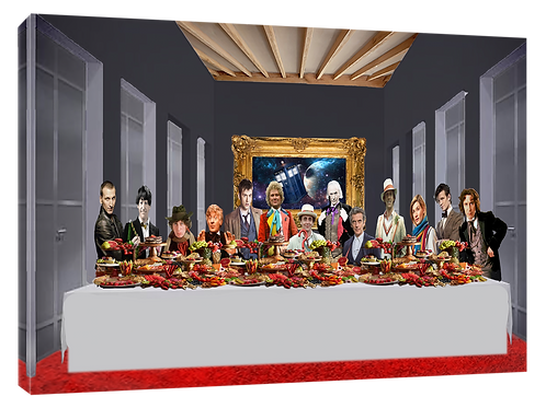 cDr Who Last supper (Original) print or canvas print (example shown 40cm