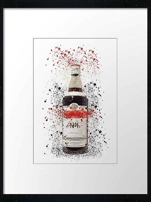 Pimms Splatter,  example shown 40cm x 30cm framed print