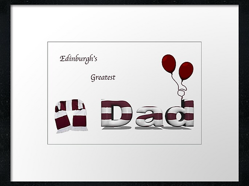 Hearts Dad (2)  Example shown 40cm x 30cm framed print or canvas print