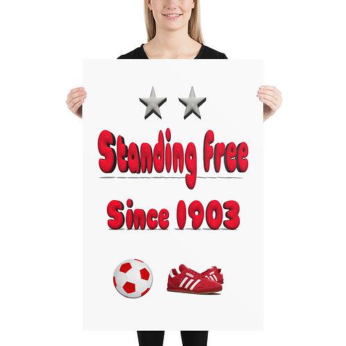 Aberdeen Fc, Standing free Poster