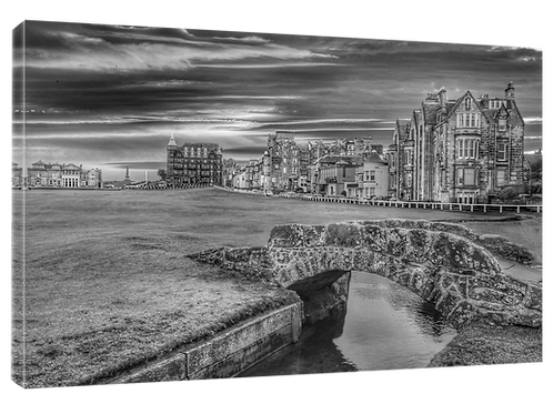 St Andrews Golf (15 B and W) Print or canvas. Example 40cm x 30cm framed print