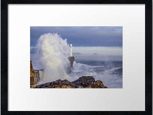 Waves crashing  40cm x 30cm framed print or canvas pri