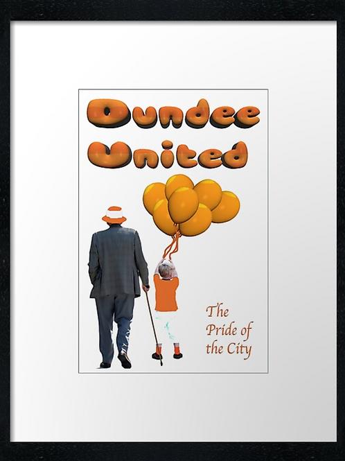 Dundee United Pride  40cm x 30cm framed print or canvas pri