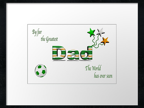 Celtic Dad designs (2) example 40cm x 30cm framed print, canvas print or
