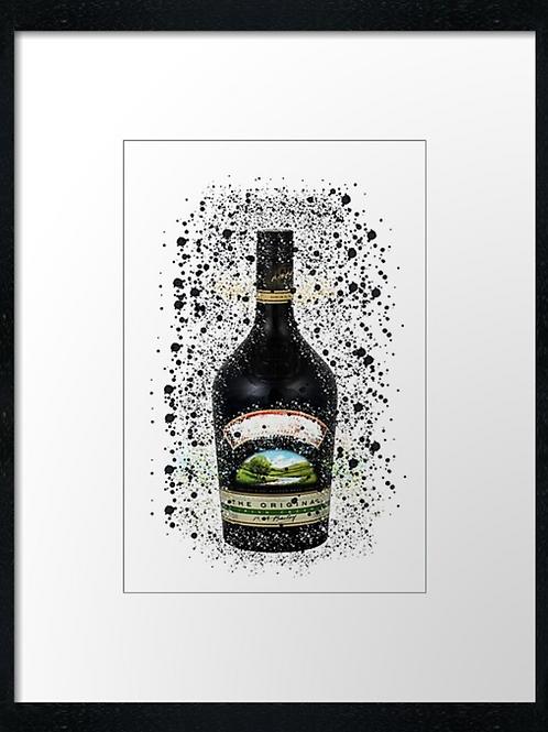 Baileys Splatter,  example shown 40cm x 30cm framed print