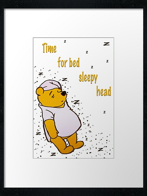 Winnie-the-Pooh (2) example shown 40cm x 30cm framed print