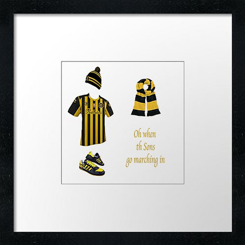 "Dumbarton fc match ready (Example shown 10"" Framed print £21.50"