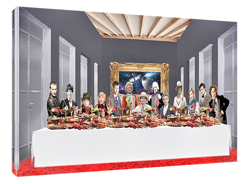 Dr Who Last supper (Light) print or canvas print (example shown 40cm