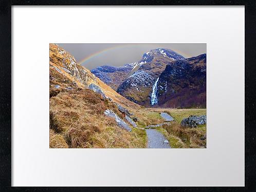 Steall falls  40cm x 30cm framed print or canvas pri
