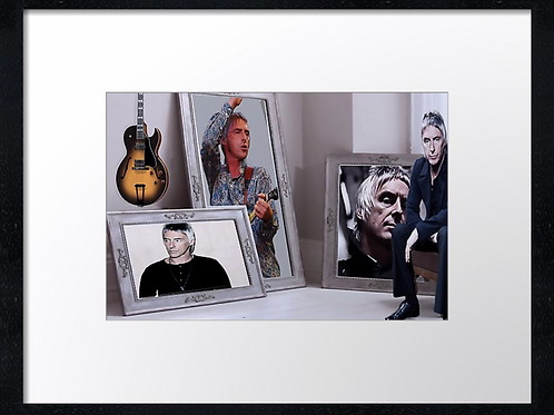Paul Weller 40cm x 30cm framed print, canvas print or A4, A3 mounted print