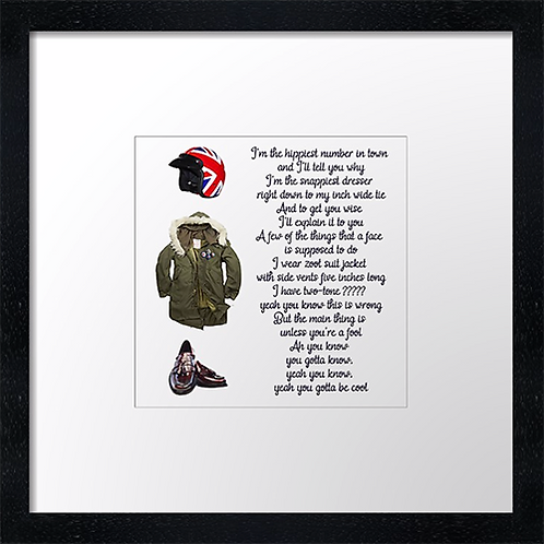 "Zoot Suit Print or canvas print Example shown is 10"" Framed print £21.50"
