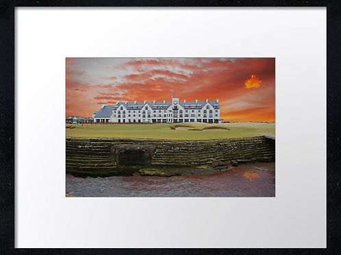 Carnoustie 19 print or canvas print Example shown 40cm x 30cm framed pr