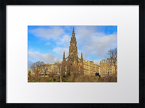 Scott Memorial, Edinburgh  40cm x 30cm framed print or canvas pri