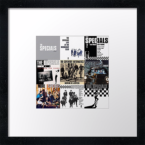 "The Specials Print or canvas print Example shown is 10"" Framed print £21.50"