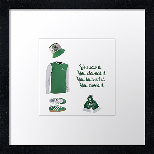 "Hibs, Sunshine on Leith (3) (Example shown 10"" Framed print £21.50)"