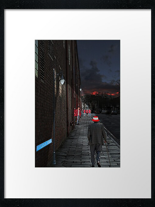 Aberdeen fc, Pittodrie evening print or canvas print