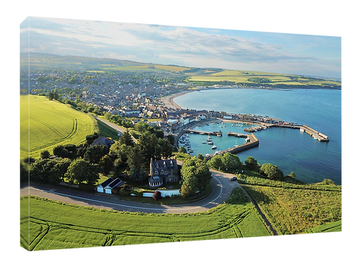 Stonehaven Harbour (1) drone picture 40cm x 30cm framed print or c
