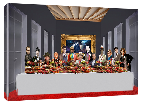 Dr Who Last supper (Oil Paint) print or canvas print (example shown 40cm