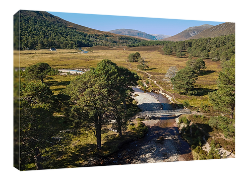 Derry Lodge, Cairngorms drone picture (1)  40cm x 30cm framed print or canvas p