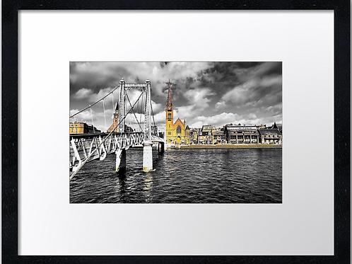 Inverness Bridges (1) 40cm x 30cm framed print or canvas pri