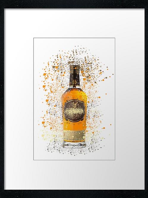 Glenfiddich Splatter,  example shown 40cm x 30cm framed print