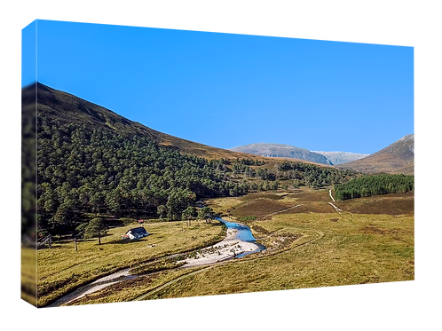 Derry Lodge, Cairngorms drone picture (2)  40cm x 30cm framed print or c