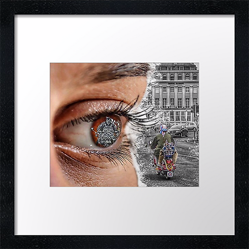 """Seeing 1963 Print or canvas print Example shown is 10"""" Framed print £21.50"""