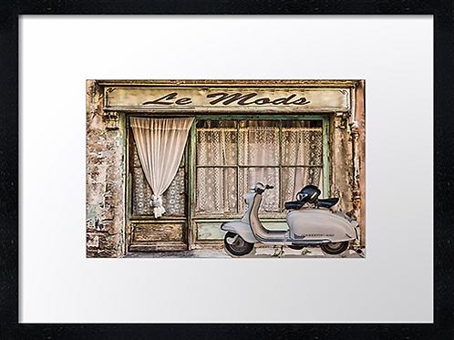 Le Mods 40cm x 30cm framed print, canvas print or A4, A3 mounted print