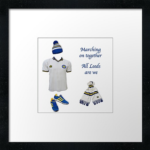 "Leeds United fc match ready (Example shown 10"" Framed print £21.50"