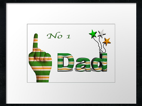 Celtic Dad designs (1) example 40cm x 30cm framed print, canvas print or
