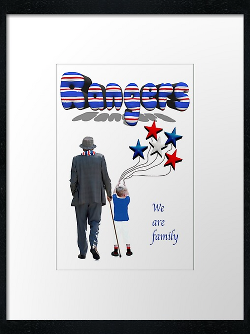 Rangers Family   40cm x 30cm framed print or canvas print