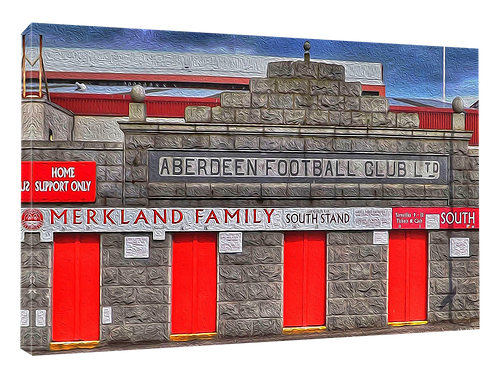 Aberdeen, Merkland Road (Vivid oilpaint effect)