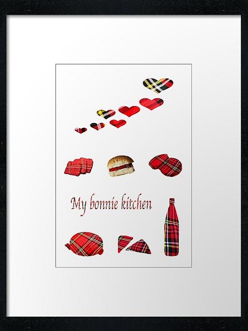My Kitchen, print or canvas print. Example 40cm x 30cm framed print