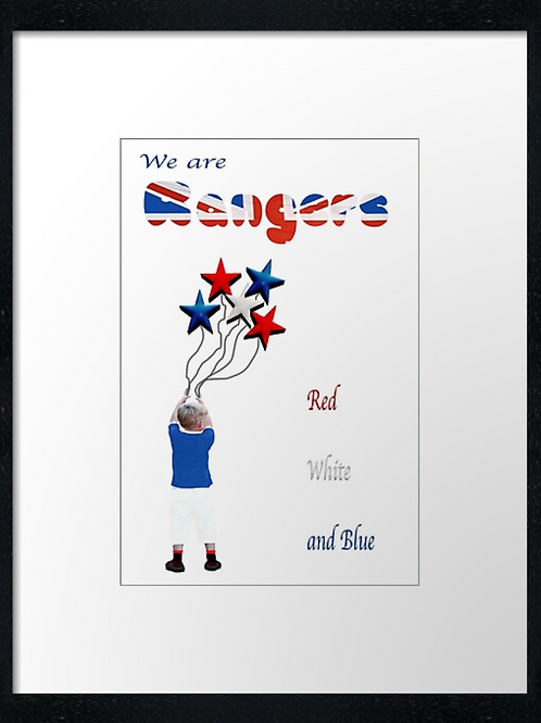 Rangers We are Rangers  40cm x 30cm framed print or canvas print