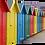 Thumbnail: Coloured beach huts (2) 40cm x 30cm framed print or canvas print
