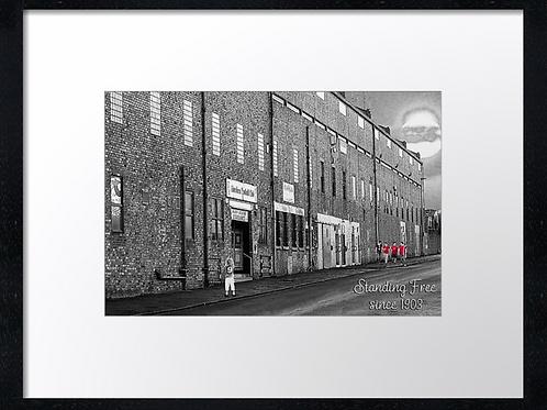 Aberdeen (10) The main stand (black & white)