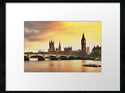 London (4) print or canvas print (example shown 40cm x 30cm framed print)