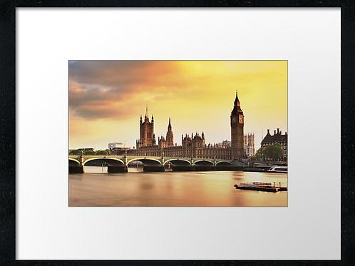 London (4) print or canvas print (example shown 40cm x 30cm framed print)