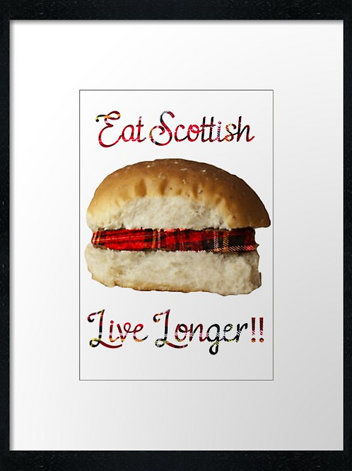 Eat Scottish, print or canvas print. Example 40cm x 30cm framed print