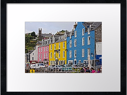 Tobermory, Mull 40cm x 30cm framed print or canvas pri