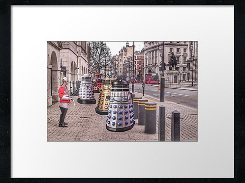 London Daleks print or canvas print (example shown 40cm x 30cm framed print