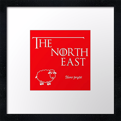 "The North East (2) Example shown 10"" framed print £21.50"