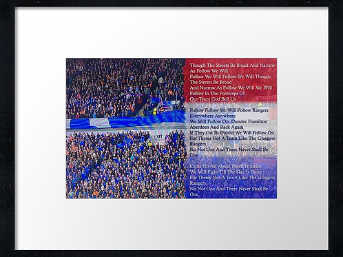 Rangers  (22) 40cm x 30cm framed print or canvas print