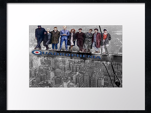 Quadrophenia lunch 40cm x 30cm framed print, canvas print or A4, A3 mounted