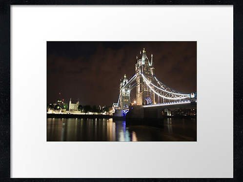 London (21) print or canvas print (example shown 40cm x 30cm framed print)