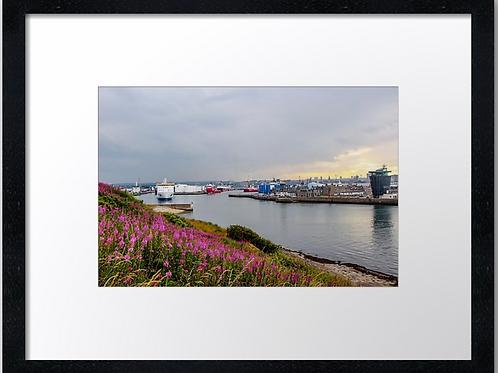 Aberdeen skyline (3)  40cm x 30cm framed print or canvas pr